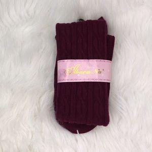 🦋3/$25 Maroon Knee High Socks